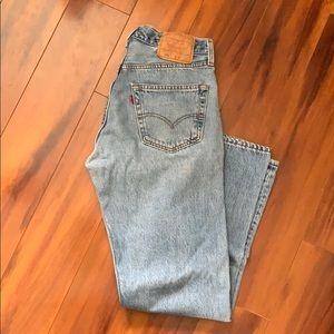 Levi's Blue 501 Jeans 32x30 Button Fly